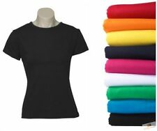 Unbranded Solid Pattern 100% Cotton T-Shirts for Women