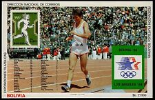 BOLIVIA, MICHEL # BLK143 (BLOCK 143), MINI SHEET OF 1984 OLYMPIC GAMES, RUNNER