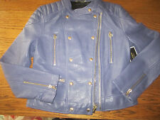 NWT Juicy Couture Leather Jacket Stormy Moto Size Large