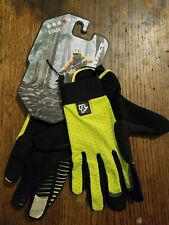 Cycling Full Finger Gloves Race Face Stage Sulphur Large