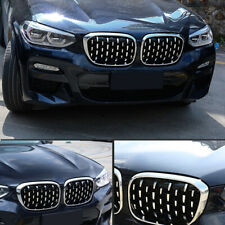 For BMW X3 G01 2018-2020 Front Center Radiator Grille Honeycomb Cover Trim 2pcs