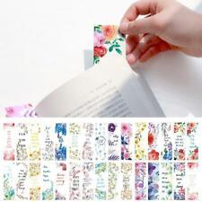 30 Stücke Blumen Lesezeichen Buch Notizen Papier Seitenhalter für Bücher S Heiß
