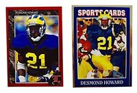 (2) Desmond Howard Odd-Ball Trading Card Lot