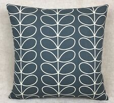 "Handmade Cushion Cover in Orla Kiely Cool Grey 16""x16"""