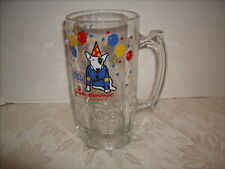 Spuds Mackenzie Budweiser Bud Light Large Glass Beer Mug Stein Party Animal 1987