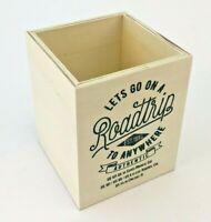 Pencil And Pen Holder Office Desk Supplies Organizer Desktop Wood Storage Box