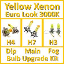 Warm White 3000K Yellow Xenon Headlight Bulb Set Main Dip Fog H4 H7 H3 Kit