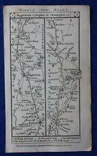 Original antique road map ST NEOTS, HUNTINGDON, STILTON, STAMFORD, Paterson 1785