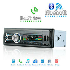 12V FM Bluetooth Car Stereo Radio 1 DIN In Dash Handsfree SD/USB AUX Head Unit