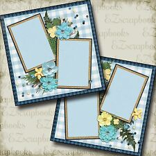 FOREST GIRL - 2 Premade Scrapbook Pages - EZ Layout 2089