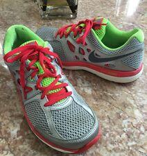 Womens Nike Dual Fusion Lite Running Shoes Silver SZ 7 #599560-001 EUC