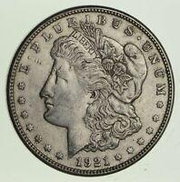 (1) VF/XF 1921-P Morgan Silver Dollar - 90% $1.00 Bullion Eagle Last Year Issue