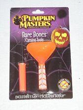BARE BONES CARVING KIT~Pumpkin Masters ONE~NIP,Saw,Scraper Scoop,Halloween Kit