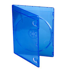 7mm Blu Ray Logo Slim Plastic Blue Case Holder For One DVD CD Disc Storage Cover