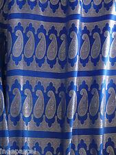 Sari bleu et argenté en soie