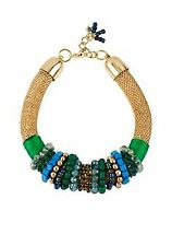 and Gold Mesh Necklace Nwt Cynthia Rowley Green Beads