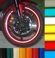 RED 3M CUSTOM REFLECTIVE MOTORCYCLE CAR RIM STRIPES WHEEL DECALS TAPE STICKERS