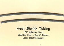 "1/8"" Adhesive Lined Heat Shrink Tubing Black Perma-Fit Dual Wall PER Foot MOLEX"
