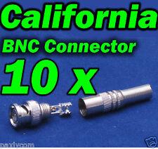 Lot 10 CCTV BNC Plug Male to Spring Head Connector Adapter F Camera DVR Video RF