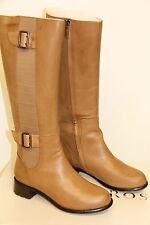 Taryn Rose Tracie Burnished Vintage Leather Tan Knee High Riding Boots 6 $599