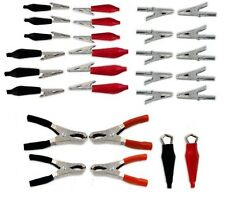 28 PC Alligator Clip Electrical Charging Clamps Jumper Leads Assortment Kit