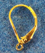 20Pcs. Gold-Plated LEVERBACK Earring Hooks Earwiires Tibetan Findings EL01
