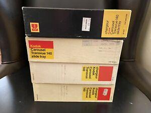 Lot of *4* Kodak Transvue 140 Slide Tray Carousel