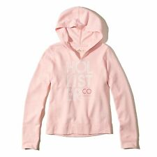 Hollister Ladies's  Logo Graphic Hoodie, Pink, Size M, NEW!!!!