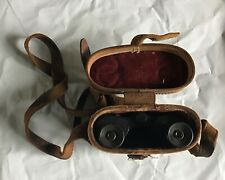 Vintage Mini Binoculars with Fitted Leather Case