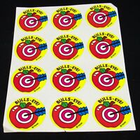 Vintage 80s Scratch & Sniff Stickers Trend Brand 12 Bulls-Eye APPLE Food Fruit