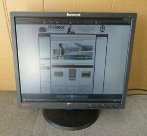 """Lenovo IBM ThinkVision 45J8708 L1900PA 19"""" LCD TFT Flat Panel Monitor VGA DVI"""