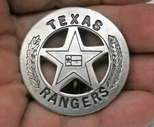 Reproduced Vest Size 1 3/4 Dia  <> Texas Rangers <> Round Star Center Flag Badge