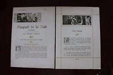 ✒ VIENT de PARAITRE Aloysius BERTRAND Gaspard de la nuit 1904 Japon DUTZAUER