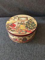 "Christmas Tin Decorative - Small 6.5"" x 3.25"""