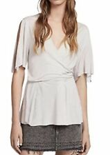 ALL SAINTS WRAP AMIRA TOP STONE WHITE NEW WITH TAGS GENUINE SIZE MEDIUM SOLD OUT