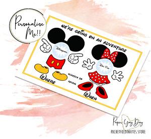 Scratch & Reveal Surprise Trip gift Travel Card Disney Holiday Card. Disneyworld