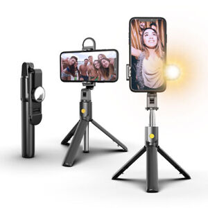 360° Extendable Tripod Wireless Bluetooth Remote Selfie Stick For iOS Android