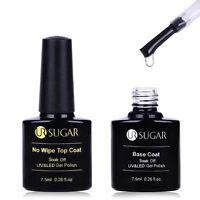 7.5ml UR SUGAR Base Coat No Wipe Top Coat Soak Off UV & LED Gel Nail Polish Tool