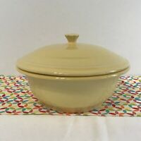Fiestaware Yellow Covered Casserole Fiesta Pale Yellow Retired Original Bakeware