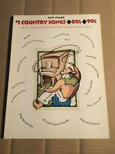 #1 COUNTRY SONGS 80's 90's - EASY PIANO - HAL LEONARD - SONGBOOK - NOTEN