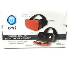 Onn Virtual Reality Smartphone Headset iPhone Samsung Smartphones Black Red