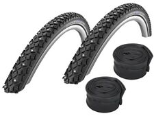 """2 X Schwalbe Winter Spike Tire 16 """" 18 """" 26 """" 28 """" (all Sizes) + Hoses"""