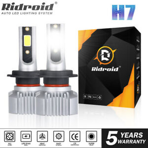 2x H7 LED Headlight Replace Halogen Hi/Low Kit Bulb Beam 6000K Canbus Error Free