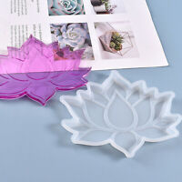 DIY Crystal Resin Glue Mould Handmade Lotus Coaster Silicone Mold