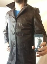 NEW Women's Cooper Sz. 38 Genuine Leather Trench Coat Jacket Chocolate Brown