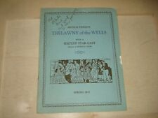 "Arthur Pinero's ""TRELAWNY OF THE WELLS""  1927 Program"