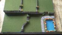 Halloween Village Display Platform Base HW16 For Lemax Dept56 Dickens + More