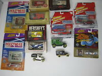 Lot of Vintage Diecast Cars Trucks Vans Toys Hershey Johnny Lightning