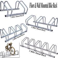 FLOOR WALL MOUNTED BIKE RACK SECURE BICYCLE STAND LOCKING HOLDER GARAGE STORAGE
