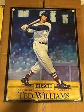 Bush 1988 Beer Baseball Great Ted Williams Poster